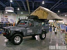 Sema 2009 Car Show Land Rover Defender 110