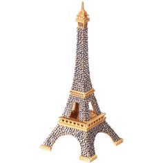 mini swarovski eiffel tower 400 liked on polyvore
