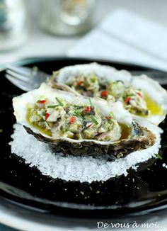 Oyster ceviche with lime and ginger - Céviche d'huitres au citron vert et au gingembre