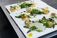 Beautiful #summerwedding starter seared scallops