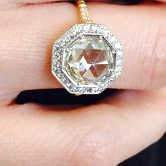 This diamond is cut in an antique style called Rose cut. I find it very beautiful. #rosecut