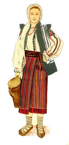 Traditional Romanian Costumes from Moldova, Gura Humorului. Popular Costumes, Folk Embroidery, Embroidery Designs, Simple Cross Stitch, Moldova, Folk Costume, Blouse Vintage, Traditional Outfits, 1 Decembrie