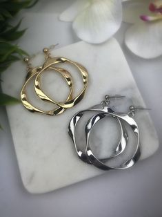 Post Hoop Earrings – Belvie Jewelry