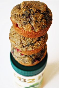 Low calorie peanut butter & jelly muffins!  >100 cal per muffin- not bad