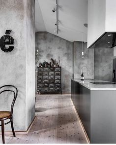 Moody Greys And An Industrial Look For This Beautiful Home