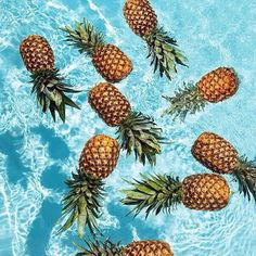 Summer pineapple, summer, and water