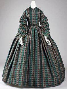 Dress Date: 1860s Culture: American or European.