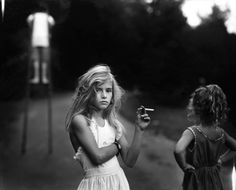 Sally Mann. 'Candy Cigarette' 1989 My mom used to get my sister and I the gum kind of fake cigarette's...