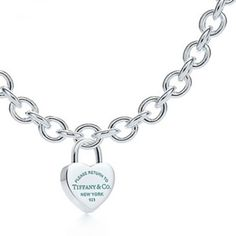 Tiffany Heart Lock Bracelet and Necklace Set - $150.00