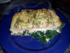 Recept zalm/spinazie-ovenschotel