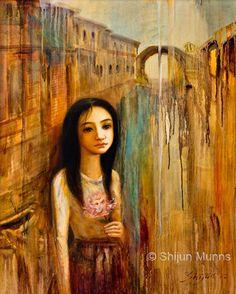 """Memory of the River"" by Shijun Munns 黄诗筠   oil on linen 24x30"" 2012  www.shijunart.com www.facebook.com/shijunart  #Art #OilPaintings  #painting"