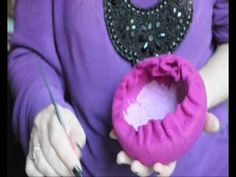 Making a felt pillbox hat part 2 - YouTube