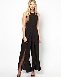 Love #Jumpsuit with Wrap Split Trouser Detail