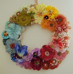 Creative Mischief: An eternal floral wreath - pretty in Prima and vintage