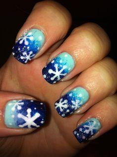 Starry night snowflakes