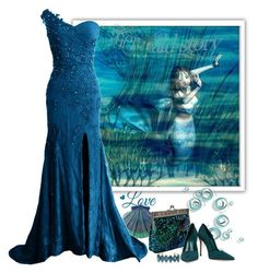 """""""Mermaid"""" by molly2222 ❤ liked on Polyvore featuring Schutz, Elizabeth Cole and mermaid"""