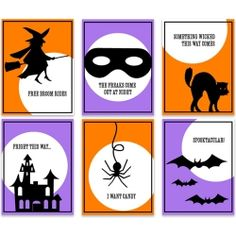 Free Halloween Printable Tags. 3x4 size great for mini-cards, scrapbooking, treat bags and more!