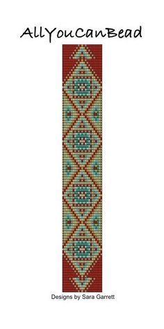 Square Stitch Bracelet Pattern 302 Bead Weaving by AllYouCanBead