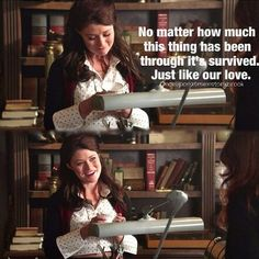 Belle and the chipped tea cup. Talking about her and Rumple's love