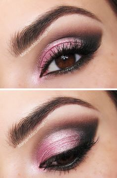 25 Beautiful Pink Eye Makeup Looks for 2019 – Howe To Make Make-Up Design Pink Eye Makeup Looks, Dramatic Eye Makeup, Cat Eye Makeup, Dramatic Eyes, Smokey Eye Makeup, Love Makeup, Skin Makeup, Beauty Makeup, Makeup Ideas