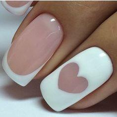 Step-by-Step Guide to - 70 Top Braut Nägel Kunst Designs - DİY, Nagel Design French Manicure Nails, Manicure E Pedicure, French Nails, Pink Pedicure, Pedicures, Cute Nails, My Nails, Nails 2017, Nagellack Design
