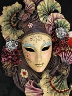 Italian Carnival Masks - Bing Images - folded shapes - remember the silhouette