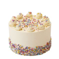 Multicoloured Funfetti Inch Single Tier (Image shown, 10 large Slices or 20 Party Portions) / Red Velvet Unique Cakes, Creative Cakes, Caramel Drip Cake, Peggy Porschen Cakes, Daisy Cakes, Flamingo Cake, Cake Show, Cake Sizes, Star Cakes
