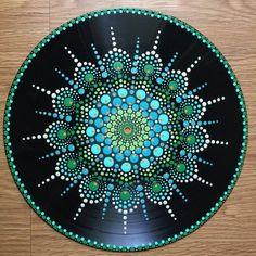 Items similar to RESERVEDVinyl Record Art Metamorphosis Acrylic on Vinyl Mandala Mandala Art Hippie Art Flower Art Circle Art Trippy Art Vinyl on Etsy Mandala Design, Mandala Art, Mandala Rocks, Mandala Painting, Hippie Kunst, Hippie Art, Hippie Trippy, Vinyl Record Crafts, Vinyl Art