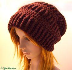 Ravelry: Mocha Slouchy Delight Hat Pattern pattern by April Draven Crochet Crafts, Yarn Crafts, Crochet Projects, Knit Crochet, Arm Knitting, Knitting Patterns, Crochet Patterns, Hat Patterns, Crochet Ideas