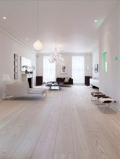 Home Decor For Small Spaces .Home Decor For Small Spaces Home Living Room, Living Room Designs, Home Renovation, Home Remodeling, White Washed Floors, Room Interior, Interior Design, Timber Flooring, Plank Flooring