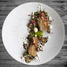 | • Pork Belly • Parsnip Puree • Dill oil • Ibérico Crumb • Baby Eggplant • | #plateau_app #foodstarz_official #cookniche #chefstalk #expertfoods #chefsroll #wildchefs #thestaffcanteen #gourmetzfood #purposeplating #myroundplate #grateplates #gastroart #gourmetartistry #soignefood #theartofplating #chefsplateform #food #love #instafood #culinarytalent #paintingfoodplus