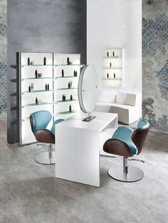 Round Line - Salon Ambience - Hairdressing Furniture - Made In Italy - Produzione e vendita arredamenti per parrucchieri e saloni - Arredamento Barbiere - Salon Equipment - Arredamenti Per Parrucchieri