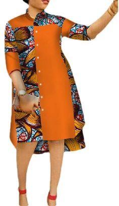 African Shirt Dress, African Dresses For Kids, Latest African Fashion Dresses, African Dresses For Women, African Attire, Plus Size Shirt Dress, African Print Dress Designs, Ideias Fashion, Women's Fashion