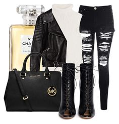 """""""!"""" by king-alysa ❤ liked on Polyvore featuring Glamorous, Chanel, Theory, Zara, MICHAEL Michael Kors and Gianvito Rossi"""