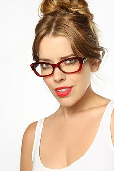 'Carla' DG Logo Slim Cat Eye Clear Glasses - Tortoise/Black - 1261-3