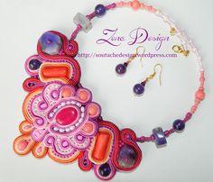 "New! Colier soutache ""Light and shine""   Zena Design"