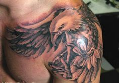 "Eagle Tattoos for Men | Eagle tattoo is always associated with the ""United States"" , it is the ..."