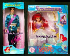 Royal Wishing Little Mermaid Princess Ariel Waters & Seeing Sailoryouth Princer Erickson Andersen Royal Date Attire Wishing Little Mermaid Princess Tyco Walt Disney Dolls 1990