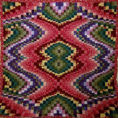 Bargello quilt by Becky Botello. Follow the link to hundreds of photos of her other Bargello quilts.