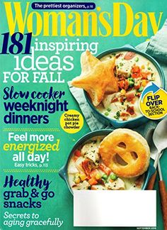 #WomansDay #Magazine September 2016 | #SlowCookerMeals #HealthySnacks