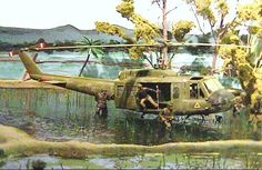 Plastic Model Dioramas | ... models, I think... IIRC, there were actually three Hueys in the
