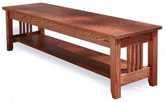Oak Mission Bench, You Choose Size And Color