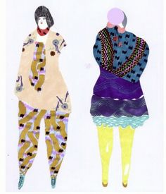 Big, beautiful shapes, colors & patterns- reminds me of Peter Max Fashion Illustration Sketches, Fashion Sketchbook, Fashion Sketches, Graphic Illustration, Moda Fashion, Pattern Fashion, Cool Drawings, Costume, Illustrators