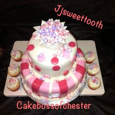 Ready to pop baby shower cake