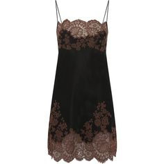 Carine Gilson Classic Silk Chemise (£825) ❤ liked on Polyvore featuring intimates, chemises, dresses, underwear, sleepwear, lingerie, pajamas, lingerie chemise, chemise lingerie and carine gilson