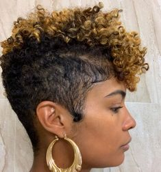 Pin on Natural hairstyles and hair care Pin on Natural hairstyles and hair care Natural Hair Short Cuts, Short Natural Haircuts, Short Curly Hair, Short Hair Cuts, Curly Hair Styles, Natural Hair Styles, Natural Tapered Cut, Shaved Natural Hair, Tapered Natural Hairstyles