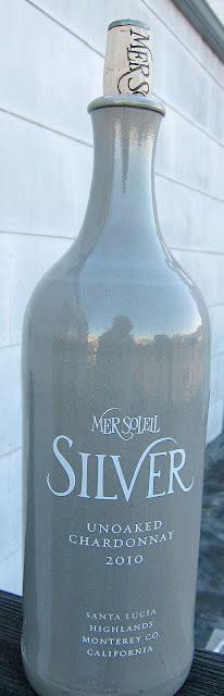 Cool ceramic wine bottle for Mer Soleil Silver Chardonnay