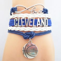 Infinity Love Cleveland Basketball - Show off your teams colors! Cutest Love Cleveland Bracelet on the Planet! Don't miss our Special Sales Event. Many teams available. www.DilyDalee.co