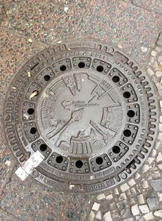 Manhole cover; Berlin, Germany.