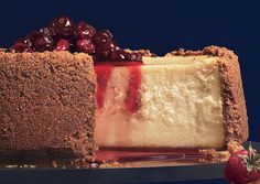 Maple Cheesecake with Maple-Cranberry Compote